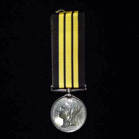 Ashantee Medal, 1873-74, awarded to Private J.Wood, 2 Battalion, Riffle Brigade. Includes papers - BuyMilitaryMedals.com - 1