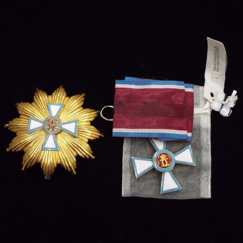 Luxembourg Civil Order of Merit pair