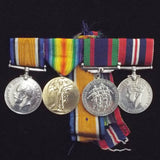 Canadian group of 4 WW1/WW2 medals to Pte. William Robert Goodwin, C.A.S.C. and R.C.A.S.C.