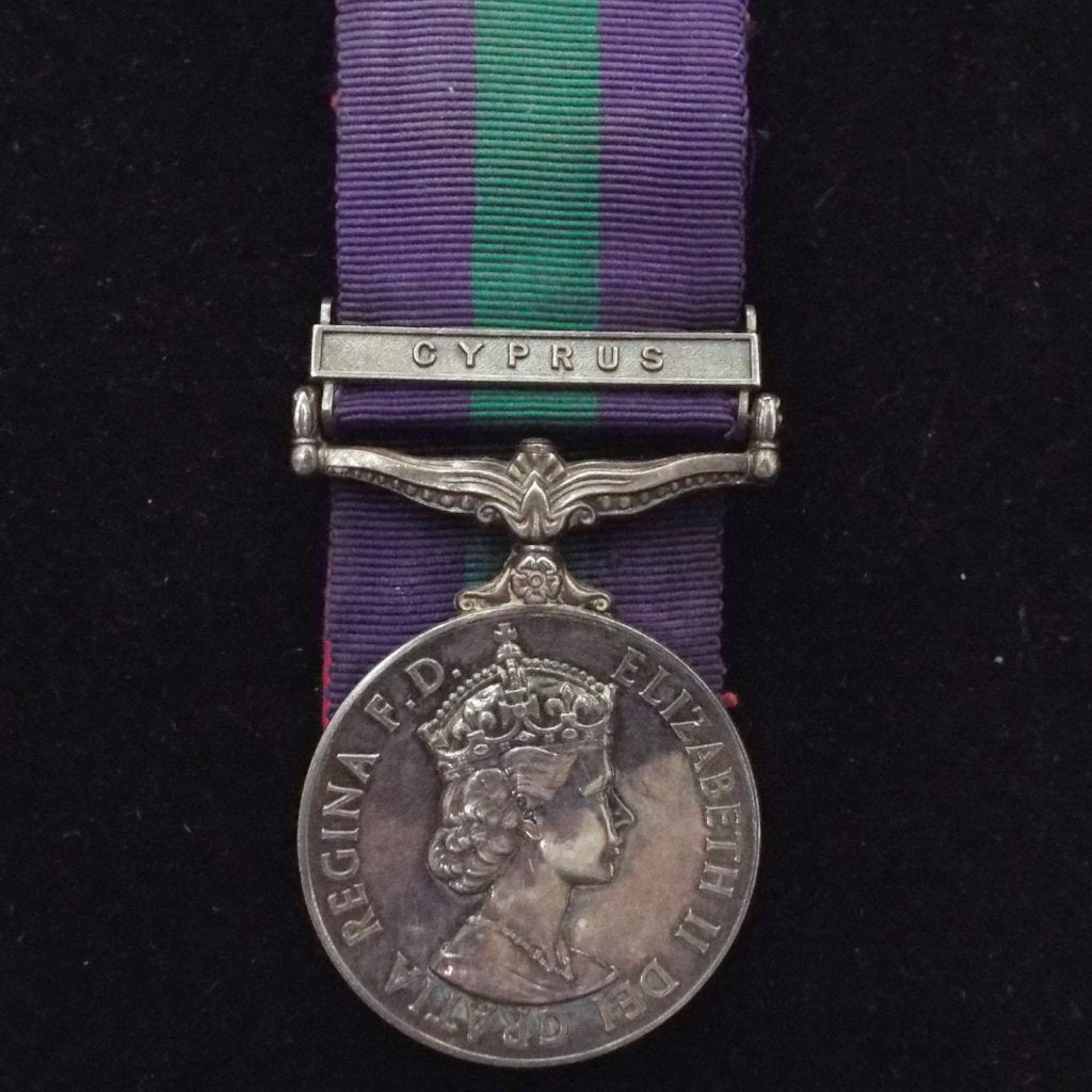 General Service Medal (Cyprus clasp) to 23458395 Pte. P. J. Gorman, Rl. Berks.