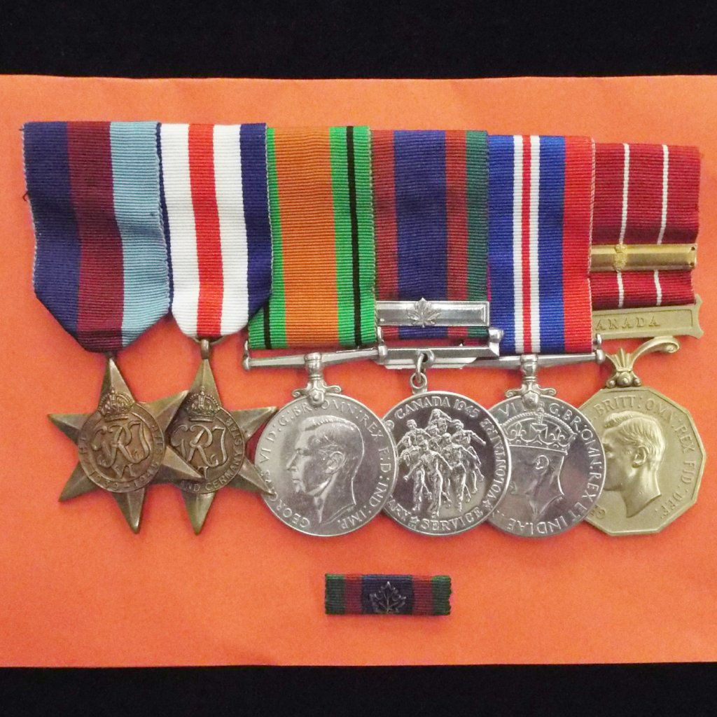 Canadian group of 6 to Cpl. W. A. Irwin, C.D. (Canada Decoration, plus R.E. award bar)