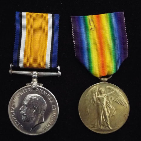 WW1 pair to 1896/ 165820 Pte. Reginald Smith, 1/1st North Somerset Yeomanry
