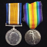 WW1 pair to 4539 Sgt. G. MacTavish, 10th Bn., Australian Imperial Force. Twice wounded in action (France)
