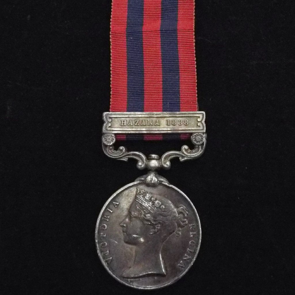 India General Service Medal 1854-95 (Hazara 1888 clasp) to Sowar Nowrang Khan