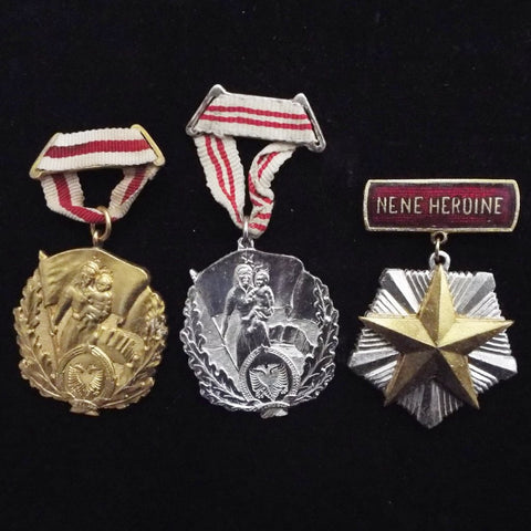 Albania group of 3 mother's medals
