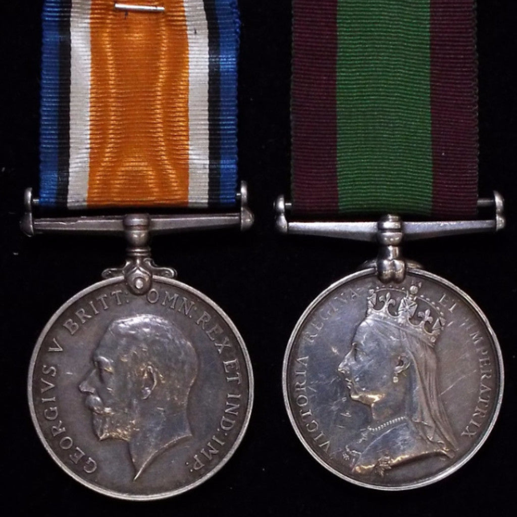 Afghanistan Medal 1878-80/ British War Medal 1914-20 pair. Awarded to Pte. C. Hammond, 15th Hussars - BuyMilitaryMedals.com - 1