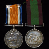 Afghanistan Medal 1878-80/ British War Medal 1914-20 pair. Awarded to Pte. C. Hammond, 15th Hussars - BuyMilitaryMedals.com - 2