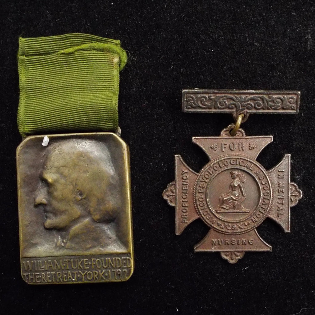 Pair of medals for Proficiency in Mental Nursing to Fred Hudson, 1887 (The Retreat Hospital)