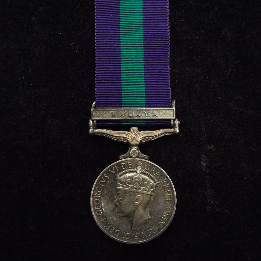 General Service Medal (Malaya clasp) to 16395 S.C. Abas Praya, F. of Malay Police