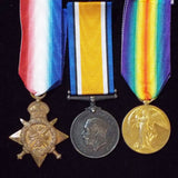 1914 Star trio to 9142 Pte. William F. Smith, 15th & 18th Hussars - BuyMilitaryMedals.com - 1