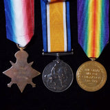 1914 Star trio to 9142 Pte. William F. Smith, 15th & 18th Hussars - BuyMilitaryMedals.com - 2