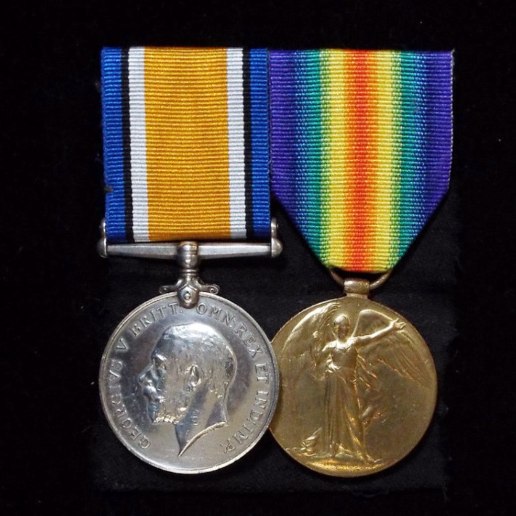 WW1 pair to M.27894 Cook's Mate Wilfred Lawson Deeley, HMS Forward - BuyMilitaryMedals.com - 1
