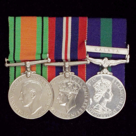 Group of 3 medals to Squadron Leader/ Group Captain William Henry E. Marriott, R.A.F. - BuyMilitaryMedals.com