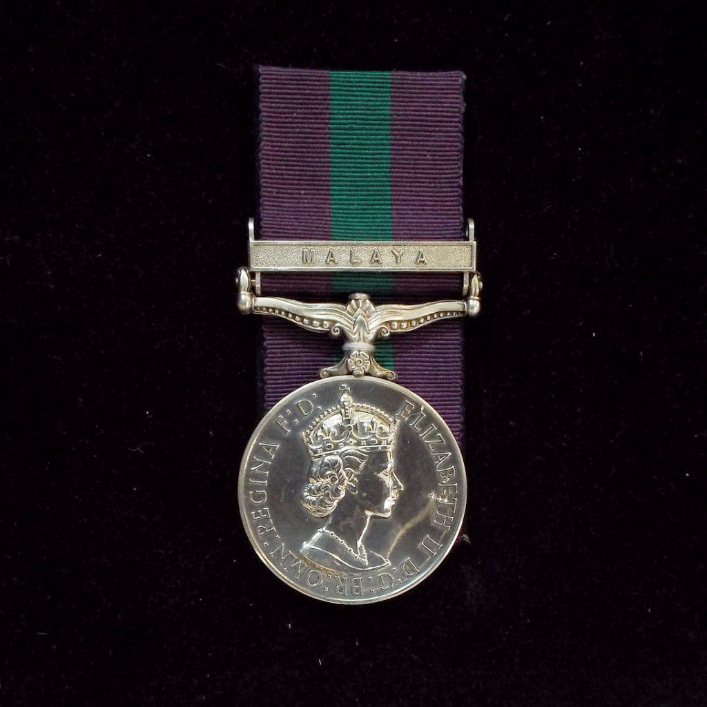 General Service Medal 1918-62, 1 clasp: Malaya. Awarded to 2590950 Jnr. Tech. T. H. Clegg, R.A.F.