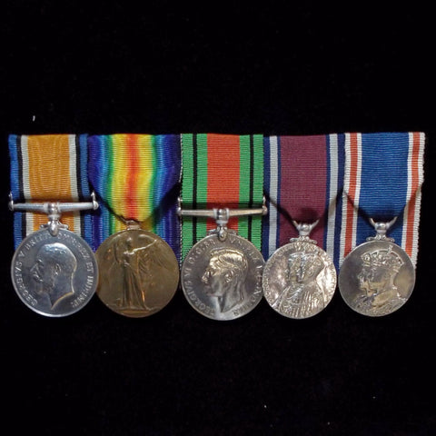 Group of 5 medals to Instructor Lieutenant Harry H. Sellar, Royal Navy