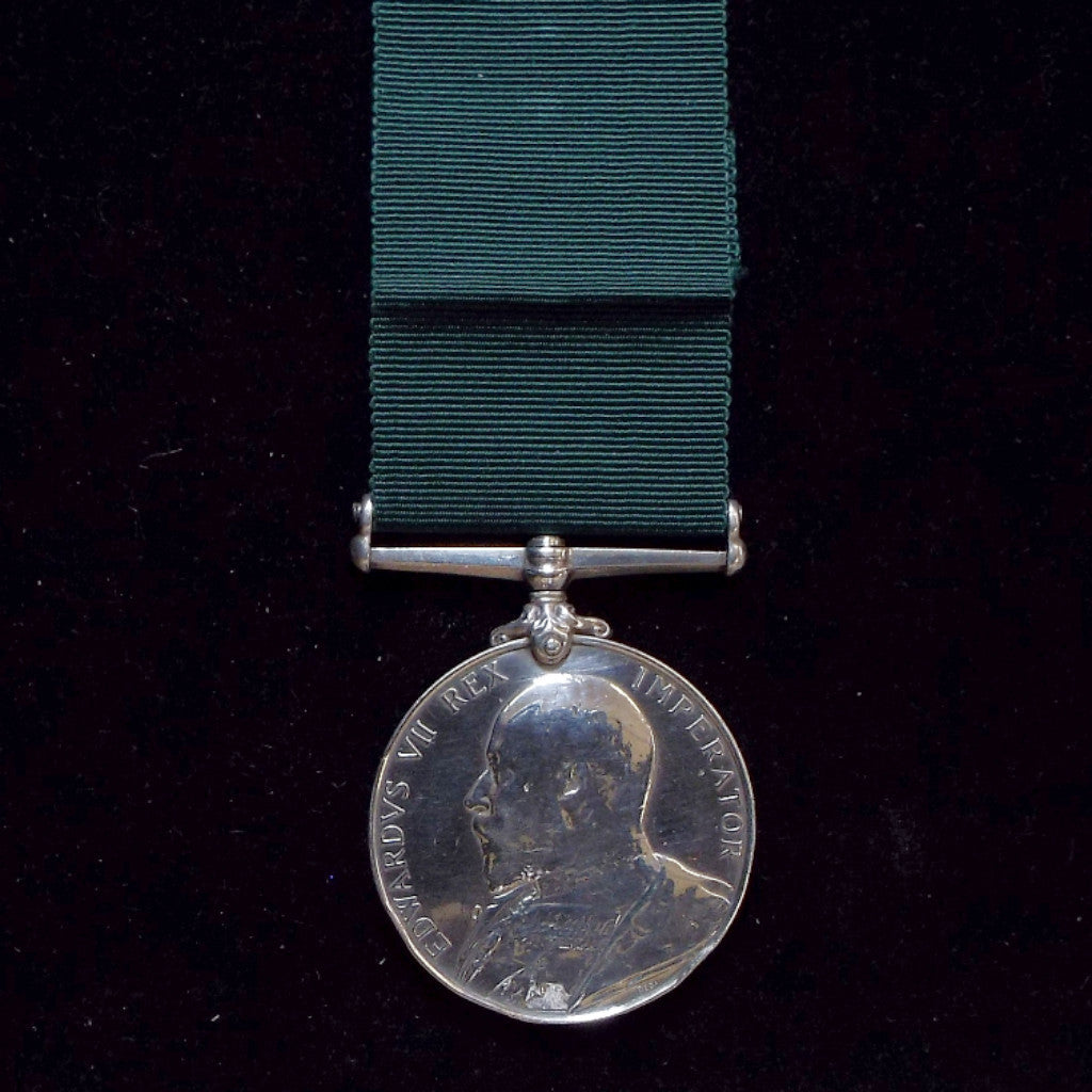 Volunteer Force Long Service & Good Conduct Medal to 3832 Pte. G. Rose, Notts. & Derby.