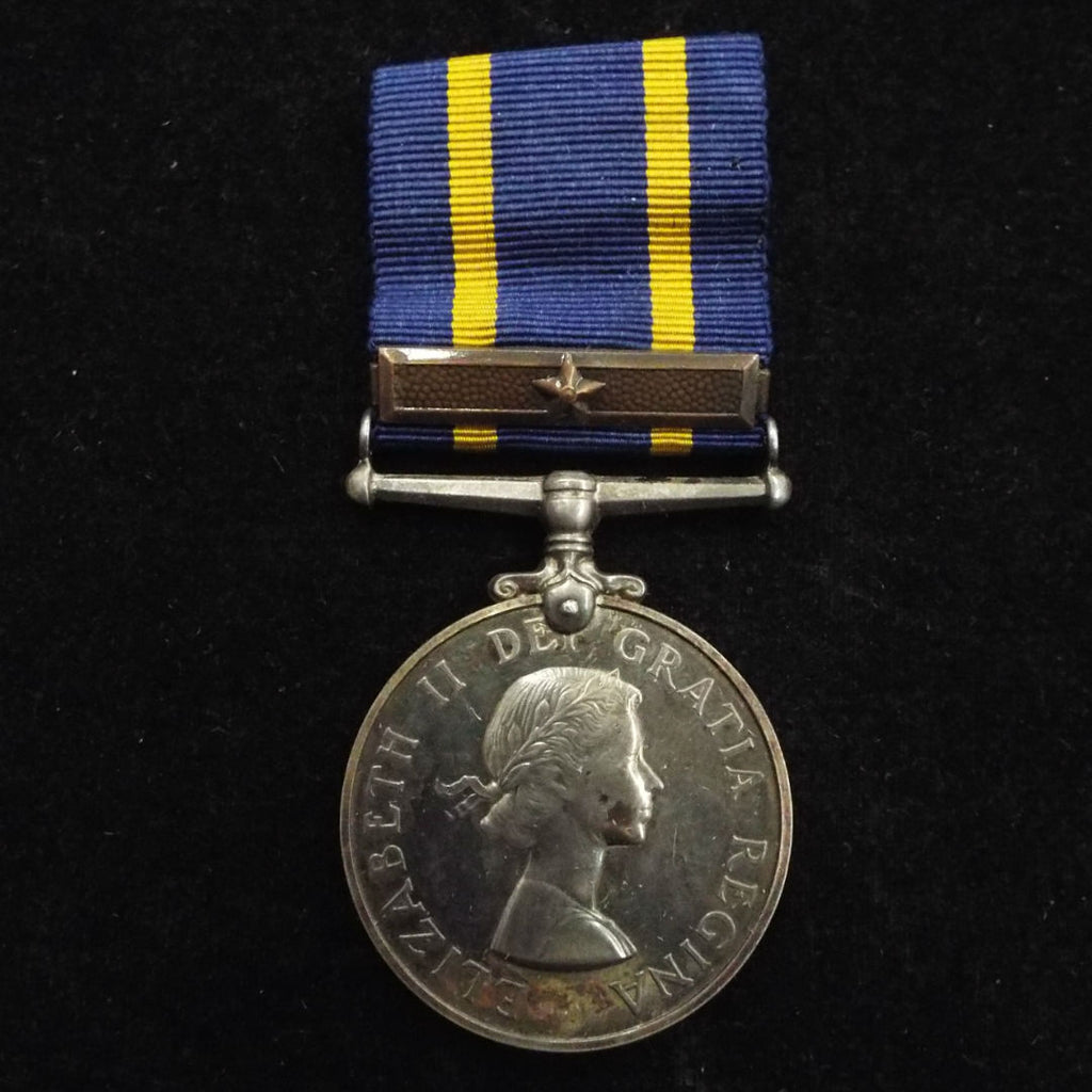 The Royal Canadian Mounted Police Long Service Medal (EIIR) and re-award bar (bronze) to 13139 Sgt. F. T. Salter, joined 29/12/38 at Ottowa on Depot, K.H.B.HQ + Air Division