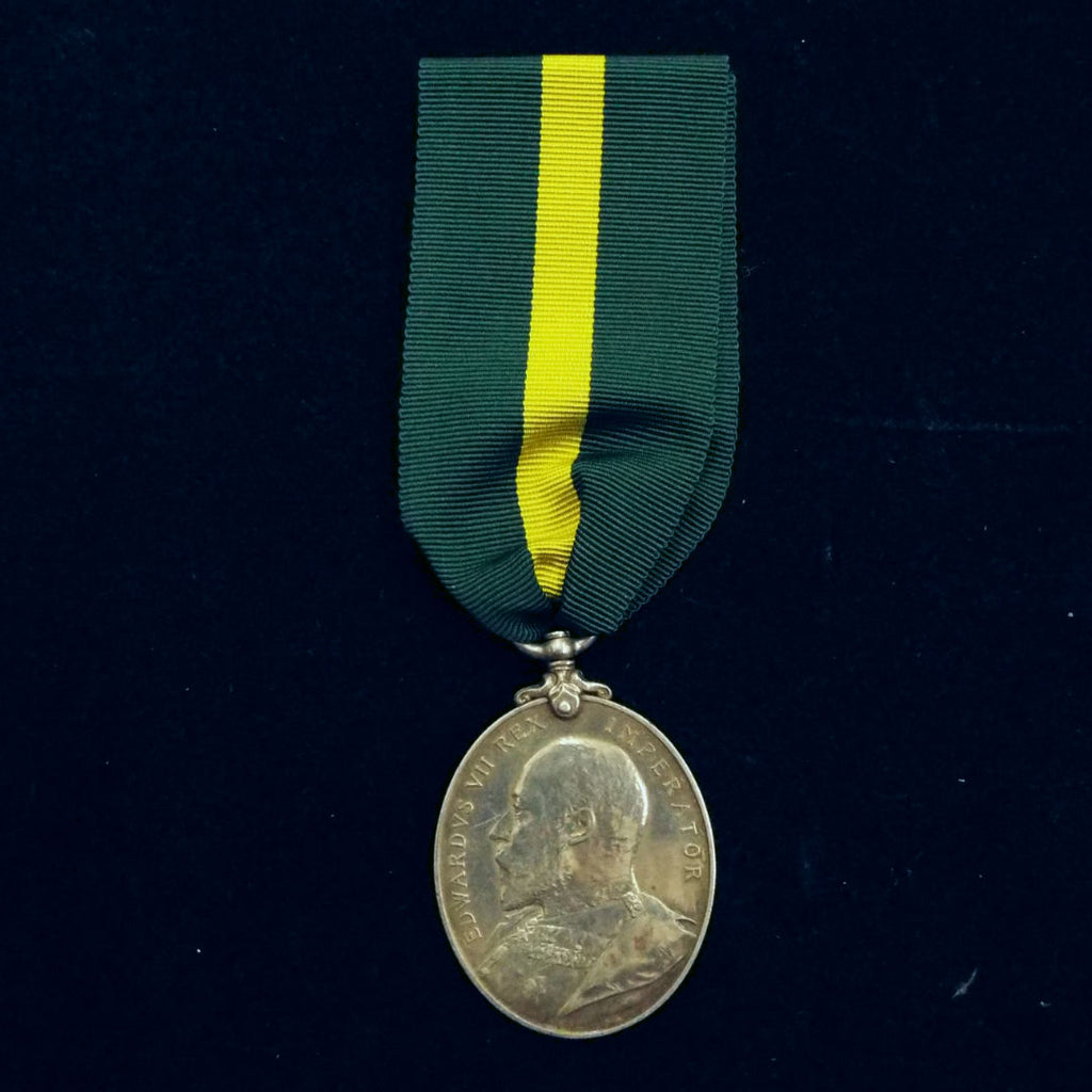 Territorial Force Efficiency Medal (EDVII) to Pte. McNiel, 6/A.S.Hors.