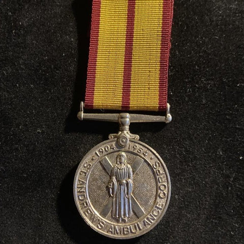 St Andrew's Ambulance Corps 1904-1954, Jubilee Medal, Reviewed by H.R.H. Duke of Edinburgh, Glasgow 13th Oct 1954