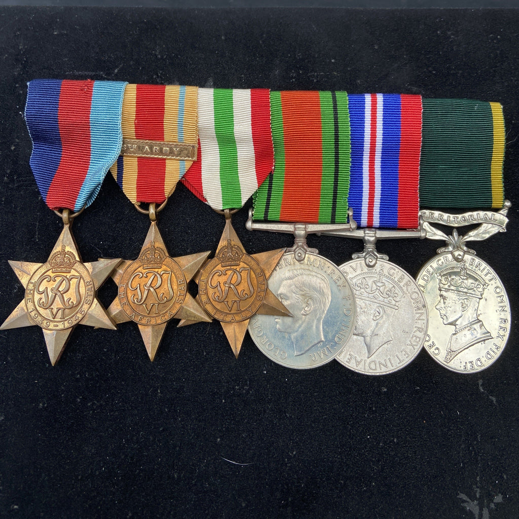 Group of 6 to Trooper J. H. Owen, 40th King's Royal Tank Regiment, named on Efficiency Medal, served North Africa, Italy & Greece, court-martialed 1946, with history