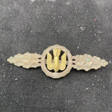 Nazi Germany, Luftwaffe Bomber Clasp, silver grade, marked R.S.S.