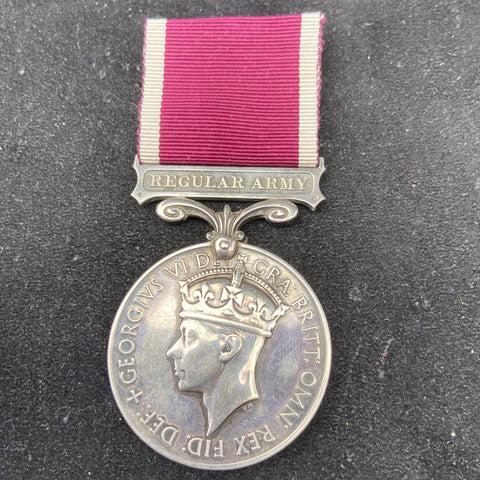 Army Long Service & Good Conduct Medal to 6008106 Gnr. T. G. Berryman, R.A., Essex Regt.
