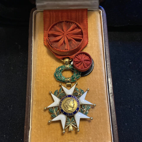 France, Legion of Honour, officer class, gold badge marked