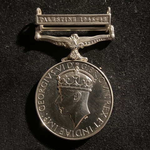General Service Medal, Palestine 1945-48 bar, to 3782837 Pte. S. Potter, H.L.I.
