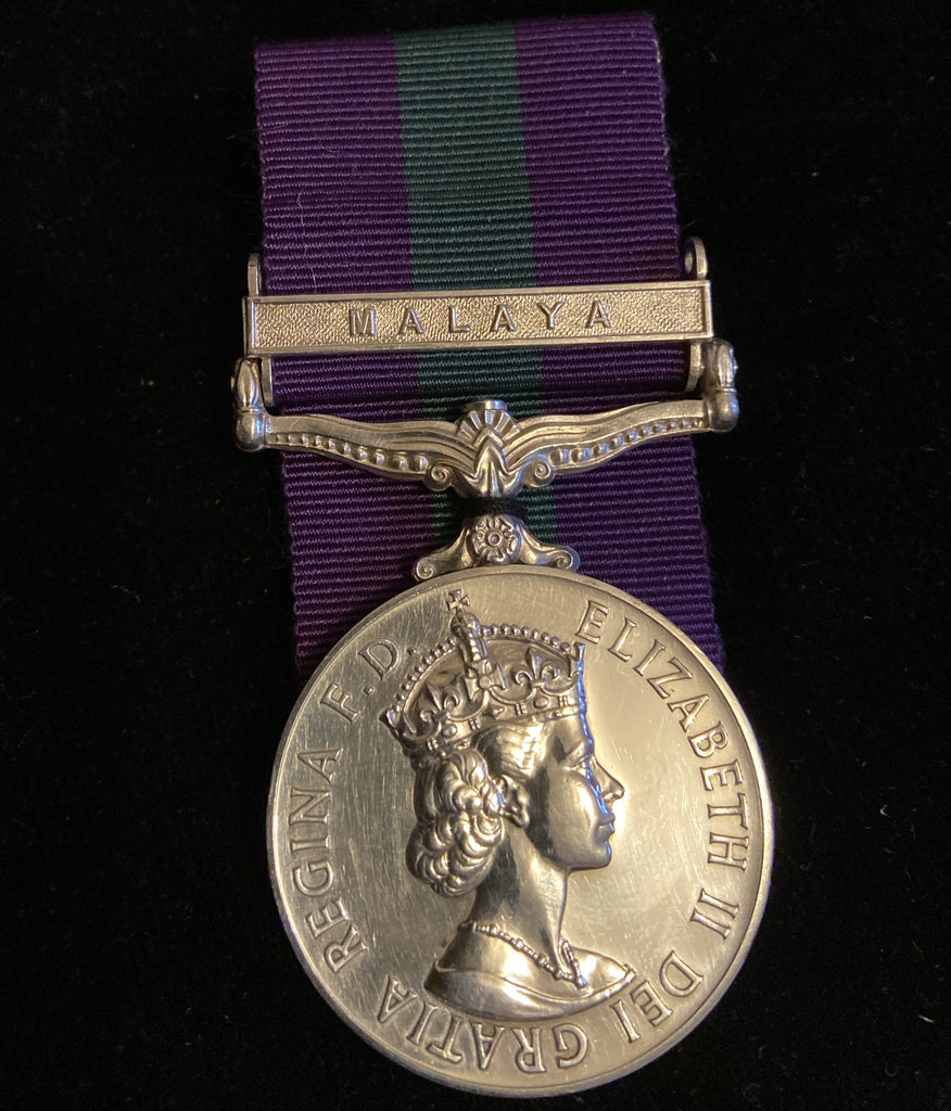 General Service Medal, Malaya bar, to 2252784 S.A.C. W. H. Norris, R.A.F.