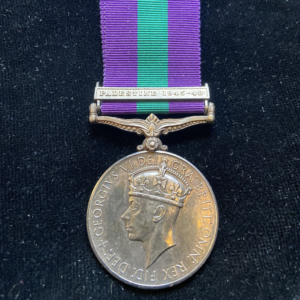 General Service Medal (Palestine 1945-48 clasp) to Miss R. Guscott, from New Zealand, Wellington, served with Entertainments National Service Association (ENSA), scarce