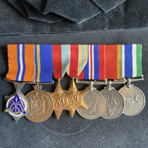 South Africa WW2 group of 7, served with the police after the war, various long service medals