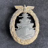 Nazi Germany High Seas Fleet Badge 1939-45, maker marked F.O.