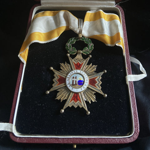 Spain, Order of Isabella the Catholic, commander class, Franco period, in case of issue, a nice silver-gilt example