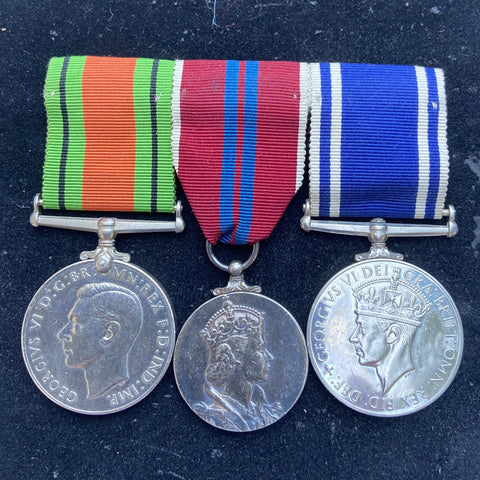 Police group of 3 to Constable David Fleming, Scottish Constabulary, confirmed 1953 Coronation Medal