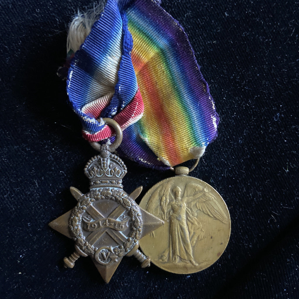 1914-15 Star & Victory Medal pair to 23229 Pte. Sidney A. Harrington, 15/ Hussars (France 23/4/1915)