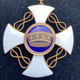 Italy, Order of the Crown of Italy, commander, gold, pre-war type