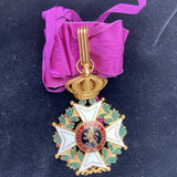 Belgium, Order of Leopold, Commander, large neck badge, bronze-gilt, WW2 type, civil
