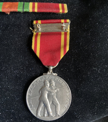 Fire Brigade Long Service and Good Conduct Medal to LGD. Fireman Ernest Burton