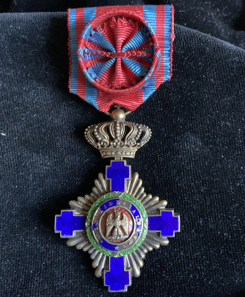 Romania, Order of the Star, first type, 4th class, some damage to the blue enamel