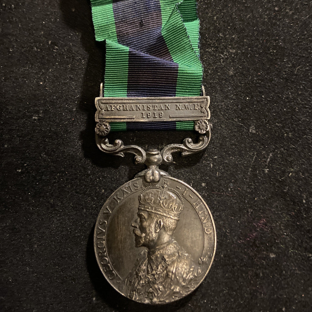 Indian General Service Medal, Afghanistan N.W.F. 1919 bar, to M-286316 Private R. Hamilton, M.T.