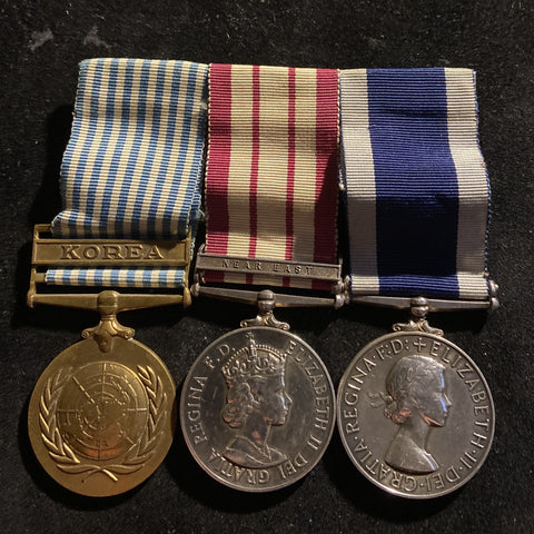 Group of 3 to 79558 D/Jc. K. G. Greenway, P.O. TEL, Royal Navy (C.R.S. H.M.S. Phoenicia on Long Service Medal)