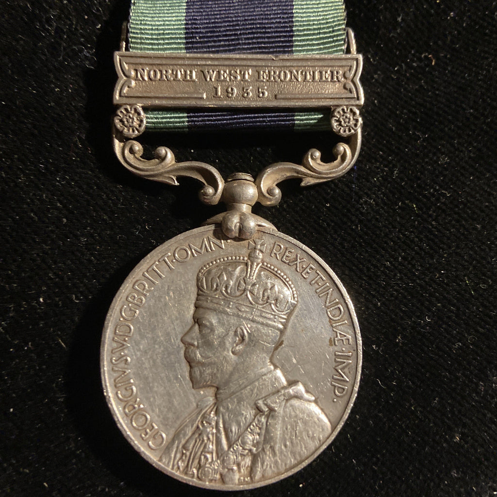 India General Service Medal 1908-35 (North West Frontier 1935 bar) to 10412 Sepoy Ghulam Jillani, Punjab Regiment