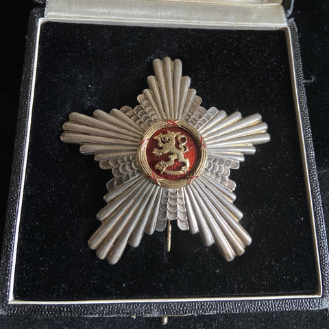 Finland, Order of the Red Lion, 2nd class, nicely marked on reverse, in original case