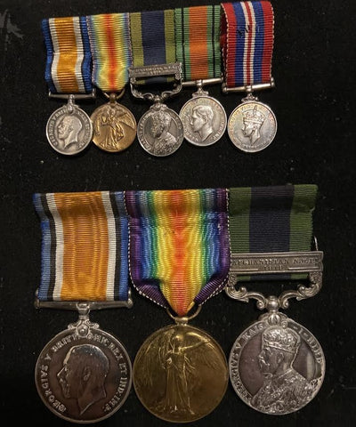Group of 3 with miniatures to Reginald Frank Copus, 25 London Regt., London Cyclist Bn., Waziristan Campaign, A Company, H.A.C. & Royal Army Ordinance Corps (Lieut.). See history, some of his items are on display at the Imperial War Museum