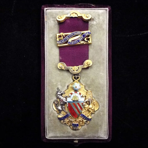 Manchester City Council Jubilee Medal, 1887, silver gilt