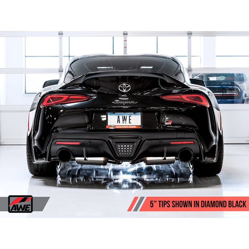 AWE Tuning Non-Resonated Touring Edition Exhaust - 2020+ Toyota GR Supra (A90)