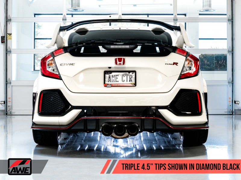 AWE Tuning Touring Edition Cat-Back Exhaust w/ Front Pipe (Chrome Silver Tips) - 2017+ Honda Civic Type R (FK8)