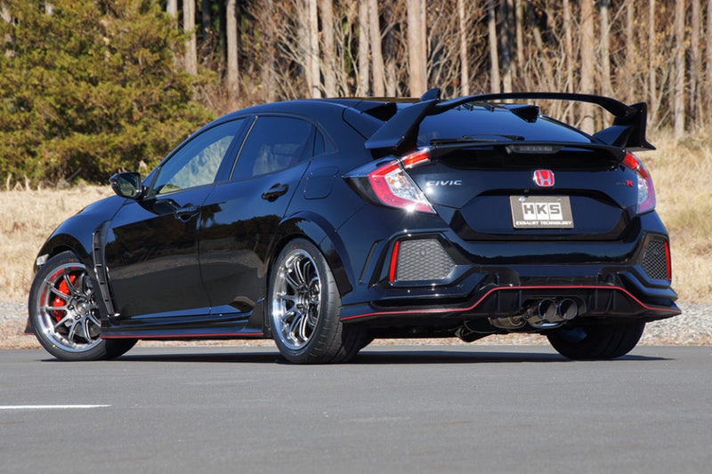 HKS Legamax Premium Cat-Back Exhaust - 2017+ Honda Civic Type R (FK8)