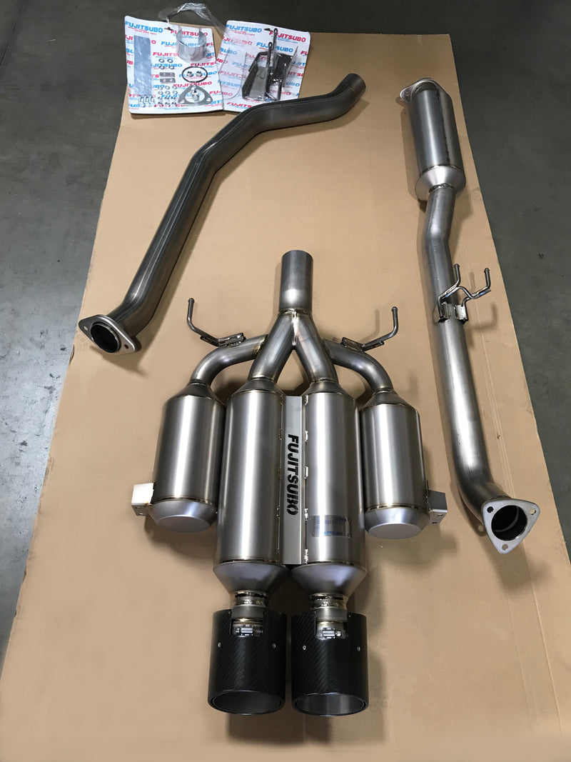 Fujitsubo Authorized RM Titanium Cat-Back Exhaust - 2017+ Honda Civic Type R (FK8)