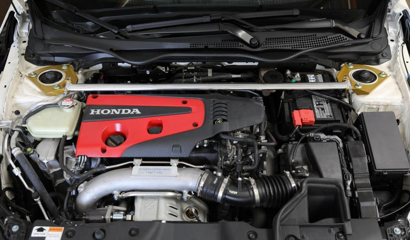 J's Racing Front Strut Bar - 2017+ Honda Civic Type R (FK8)